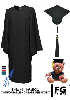 Cap, Gown, Tassel & Graduation Bear