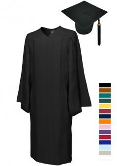 MATTE Bachelor Cap & Gown Sets