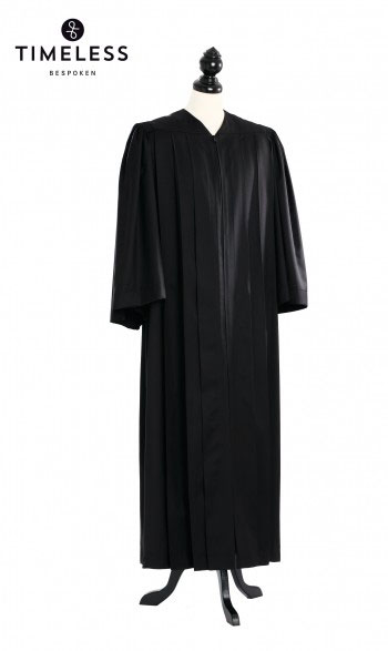 Traditional Geneva Pulpit Robe - TIMELESS silver wool