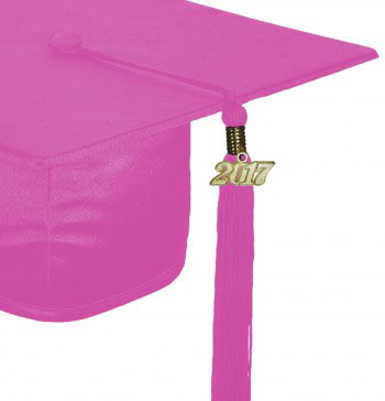 SHINY PINK CAP AND GOWN