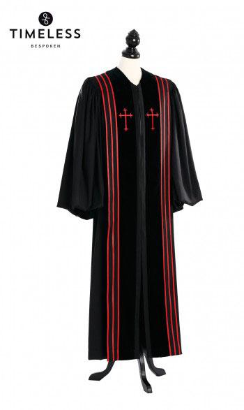 silver wool | 100% MERINO WOOL - Bishop Pulpit Robe