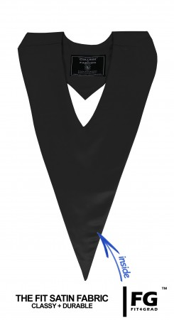 BLACK BACHELOR GRADUATION HONOR V-STOLE