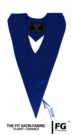 NAVY BLUE HIGH SCHOOL GRADUATION HONOR V-STOLE