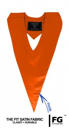 ORANGE BACHELOR GRADUATION HONOR V-STOLE