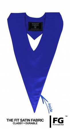 ROYAL BLUE BACHELOR GRADUATION HONOR V-STOLE