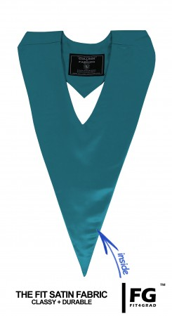 TURQUOISE HIGH SCHOOL GRADUATION HONOR V-STOLE