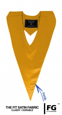 YELLOW GOLD MIDDLE SCHOOL JUNIOR HIGH GRADUATION HONOR V-STOLE