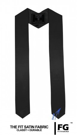 BLACK BACHELOR GRADUATION HONOR STOLE