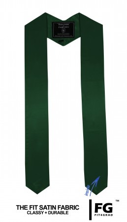 FOREST GREEN BACHELOR GRADUATION HONOR STOLE