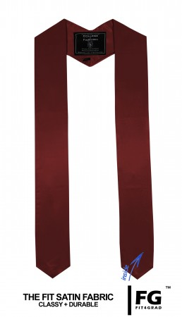 MAROON RED MIDDLE SCHOOL JUNIOR HIGH GRADUATION HONOR STOLE