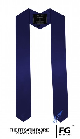 NAVY BLUE BACHELOR GRADUATION HONOR STOLE