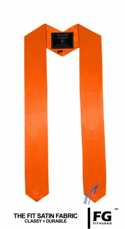 ORANGE BACHELOR GRADUATION HONOR STOLE