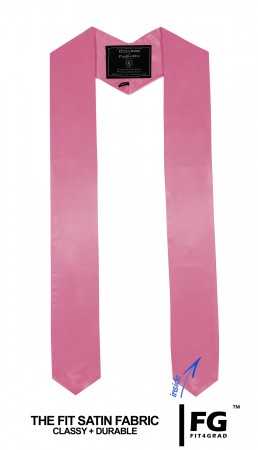 PINK MIDDLE SCHOOL JUNIOR HIGH GRADUATION HONOR STOLE