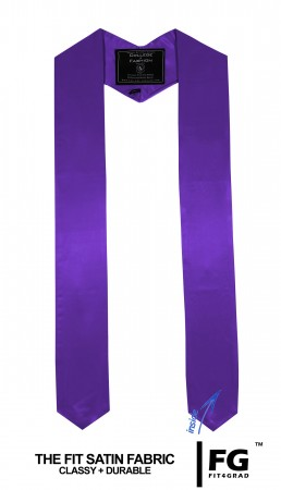 PURPLE MIDDLE SCHOOL JUNIOR HIGH GRADUATION HONOR STOLE