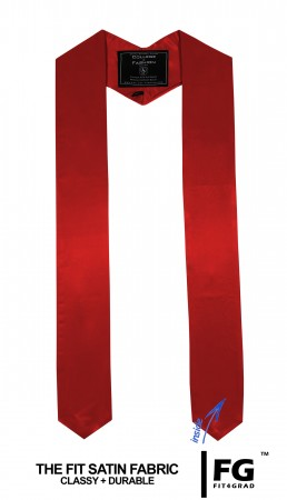 RED BACHELOR GRADUATION HONOR STOLE