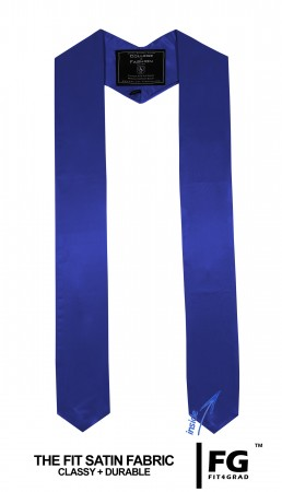 ROYAL BLUE HIGH SCHOOL GRADUATION HONOR STOLE