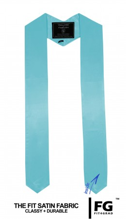 SKY BLUE HIGH SCHOOL GRADUATION HONOR STOLE