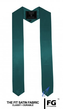 TURQUOISE HIGH SCHOOL GRADUATION HONOR STOLE
