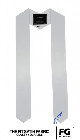 WHITE HIGH SCHOOL GRADUATION HONOR STOLE