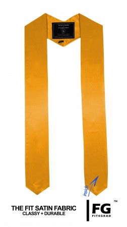 YELLOW GOLD MIDDLE SCHOOL JUNIOR HIGH GRADUATION HONOR STOLE