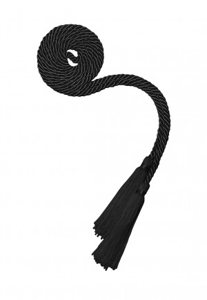 BLACK BACHELOR GRADUATION HONOR CORD