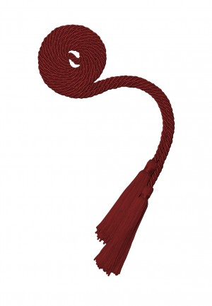 MAROON RED BACHELOR GRADUATION HONOR CORD