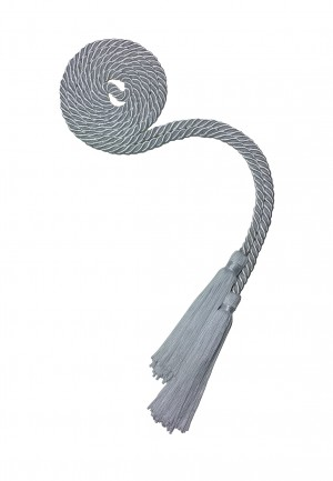 SILVER HIGH SCHOOL GRADUATION HONOR CORD