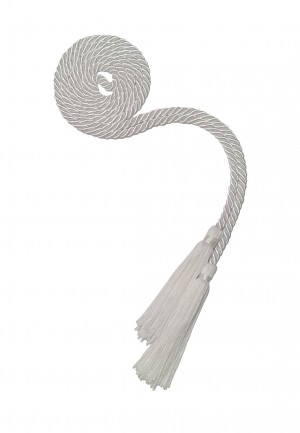 WHITE BACHELOR GRADUATION HONOR CORD