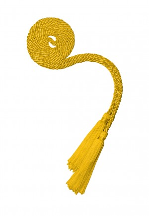 YELLOW GOLD HIGH SCHOOL GRADUATION HONOR CORD