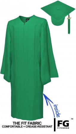 MATTE EMERALD GREEN CAP AND GOWN