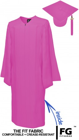 MATTE PINK CAP AND GOWN
