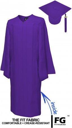 MATTE PURPLE CAP AND GOWN