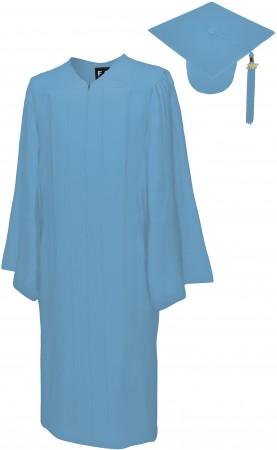 MATTE SKY BLUE BACHELOR GRADUATION CAP & GOWN SET