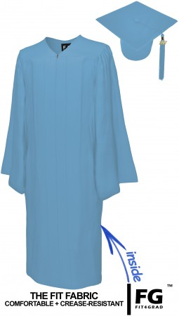 MATTE SKY BLUE CAP AND GOWN
