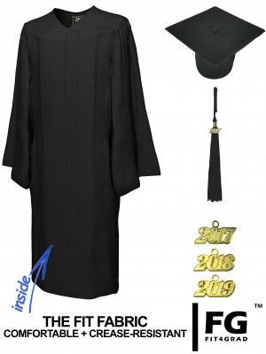 MATTE BLACK CAP AND GOWN