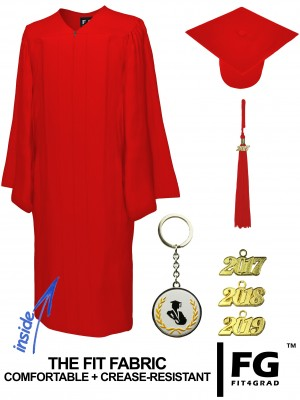 MATTE RED CAP AND GOWN