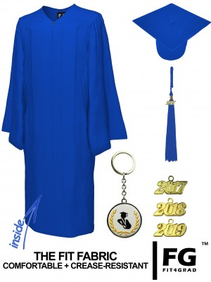 MATTE ROYAL BLUE CAP AND GOWN