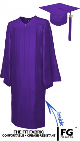 SHINY PURPLE CAP AND GOWN