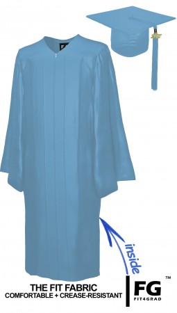 SHINY SKY BLUE CAP AND GOWN