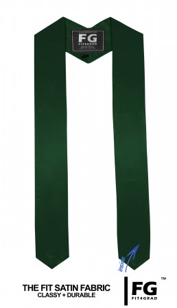 GRADUATION STOLE & SASH FOREST GREEN
