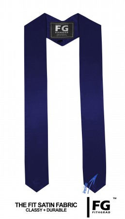 GRADUATION STOLE & SASH NAVY BLUE