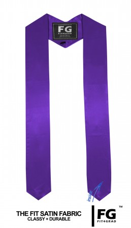 GRADUATION HONOR STOLE PURPLE ELEMENTARY SCHOOL