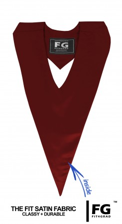 GRADUATION V-STOLE MAROON RED