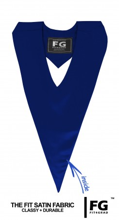 GRADUATION V-STOLE NAVY BLUE