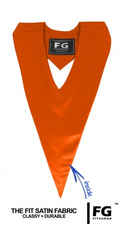 GRADUATION HONOR V-STOLE ORANGE TECHNICAL & VOCATIONAL