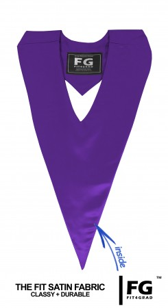 GRADUATION V-STOLE PURPLE