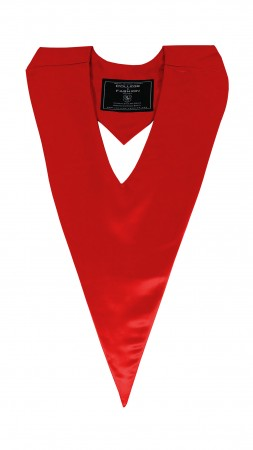 RED BACHELOR GRADUATION HONOR V-STOLE