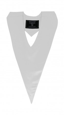 WHITE BACHELOR GRADUATION HONOR V-STOLE