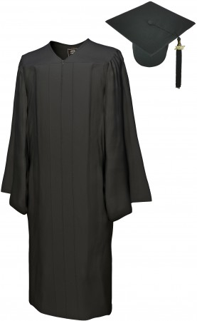 GO GREEN BLACK BACHELOR GRADUATION CAP & GOWN SET