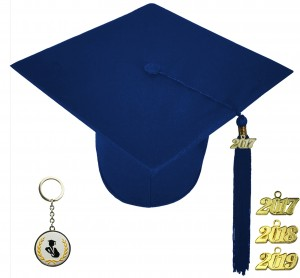 MATTE NAVY BLUE GRADUATION CAP ELEMENTARY SCHOOL